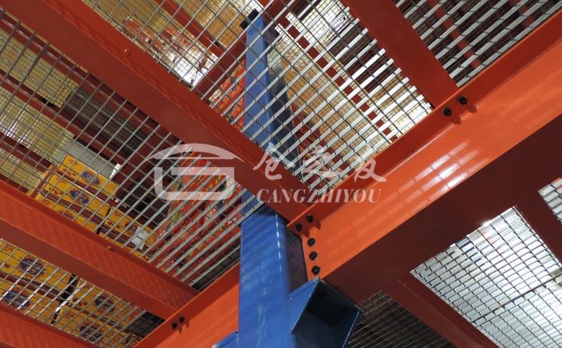 冷库行业-钢结构平台案例货架
